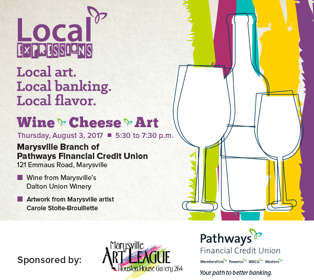 Local Expressions Wine, Cheese and Art at Pathways Financial Credit Union in marysville, Ohio on August 3, 2017.