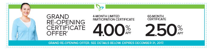 Certificate Special Offer