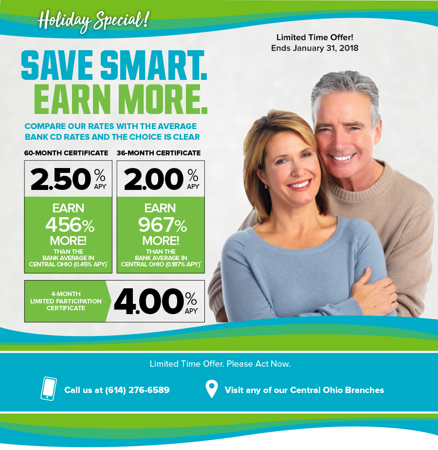 Earn more with Pathways Certificate Deposit Specials