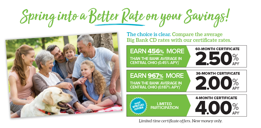 Pathways Certificate Deposit Special Rates
