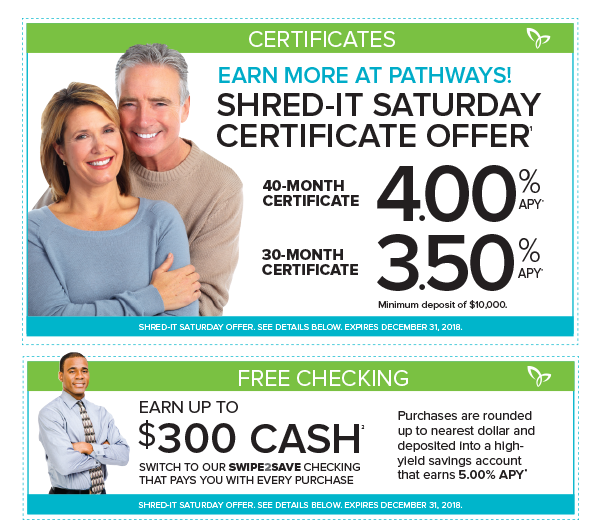 Shred-it Saturday! - Pathways Financial Credit Union