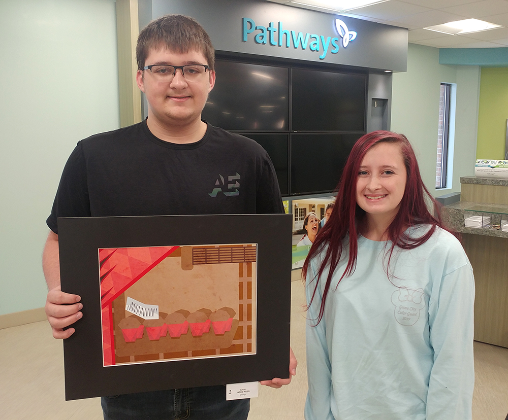 Grove City High School student artist Jared Reed